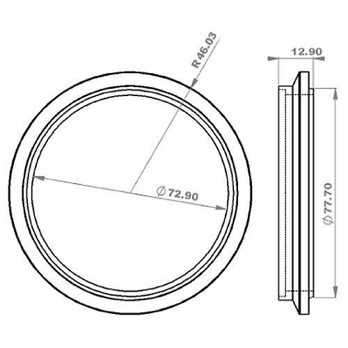 Vibrant Performance 304 SS 3″ Vband Turbo Outlet Flange for PTE Medium Frame Turbo (Precision 5 & 6 Series)