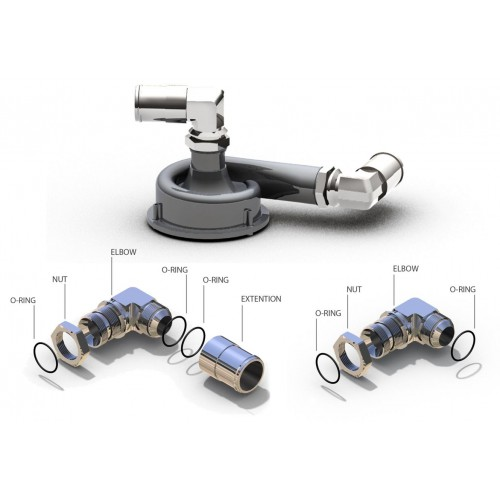 Davies Craig Metal adaptor 1-inch (screw-in type)