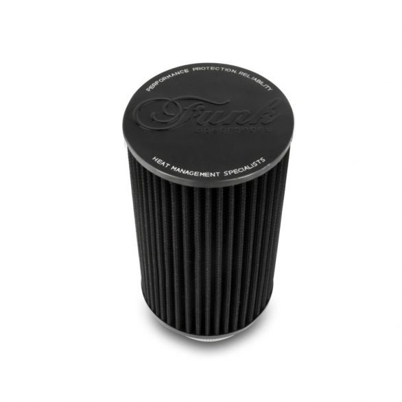 "Funk Motorsport 3"" Black Tall Performance Air Filter (Universal)"