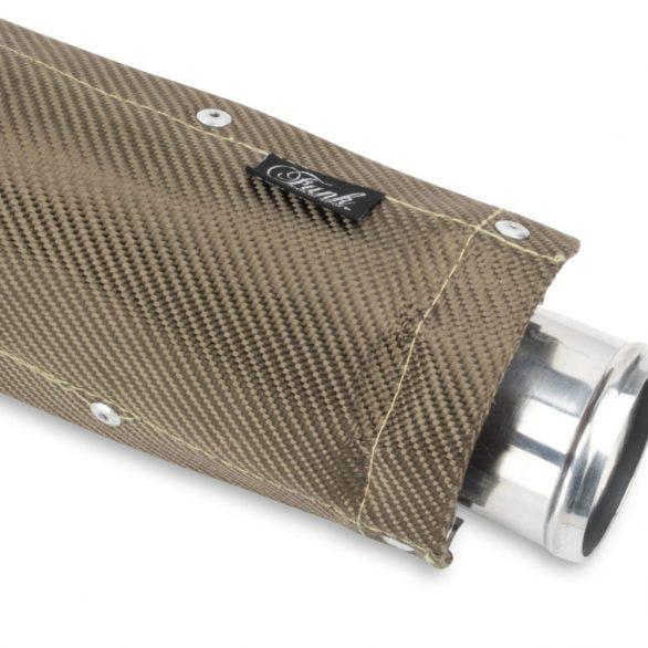 Funk Motorsport Clamp on Exhaust Heat Shield (Titanium or Carbon Fibre)