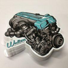 Walton Motorsprot 2JZ Sticker