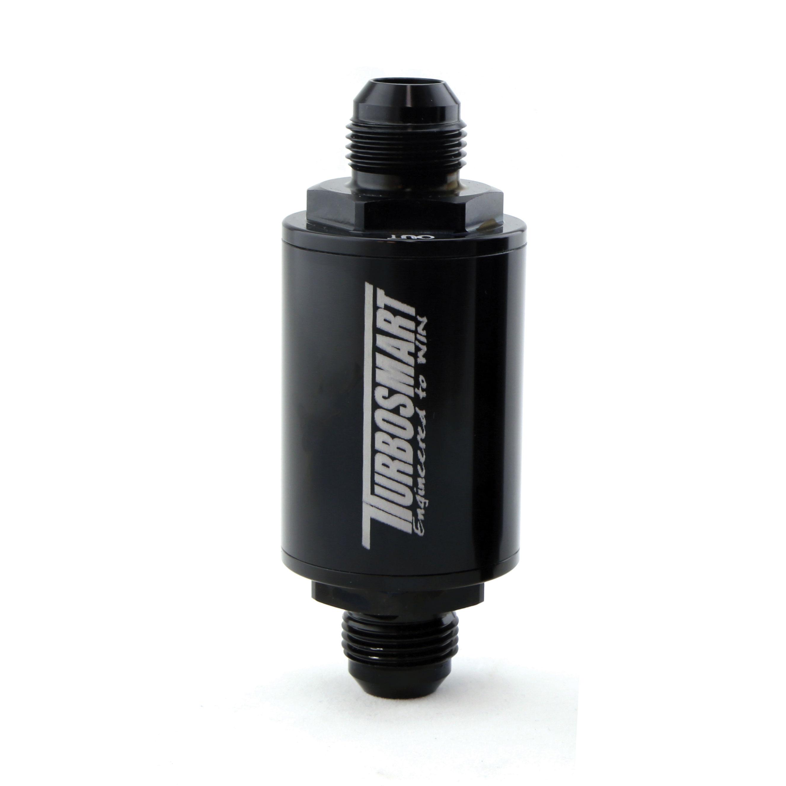 Turbosmart FPR Billet Fuel Filter 10um AN-10 - Black